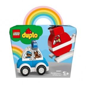 Lego Duplo Elicopter de pomieri si masina de politie 10957