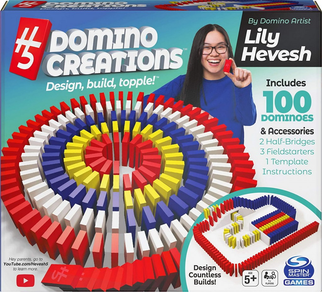 Domino Art Set deluxe 100 piese cu accesorii by Lyly Hevesh