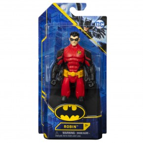 Batman figurina Robin 15 cm in costum rosu