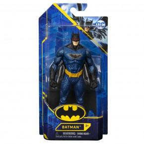 Figurina Batman 15 cm costum albastru metalizat