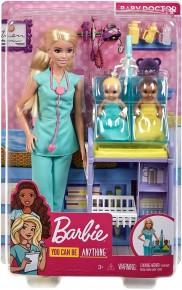 Barbie carire set cu papusa doctor pediatru