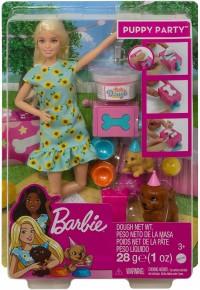 Barbie Gama Family set papusa cu catelusi