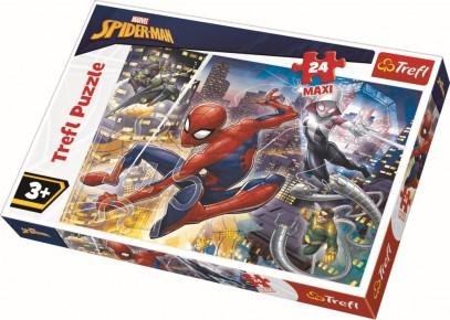 Puzzle curajosul Spiderman Trefl 24 maxi